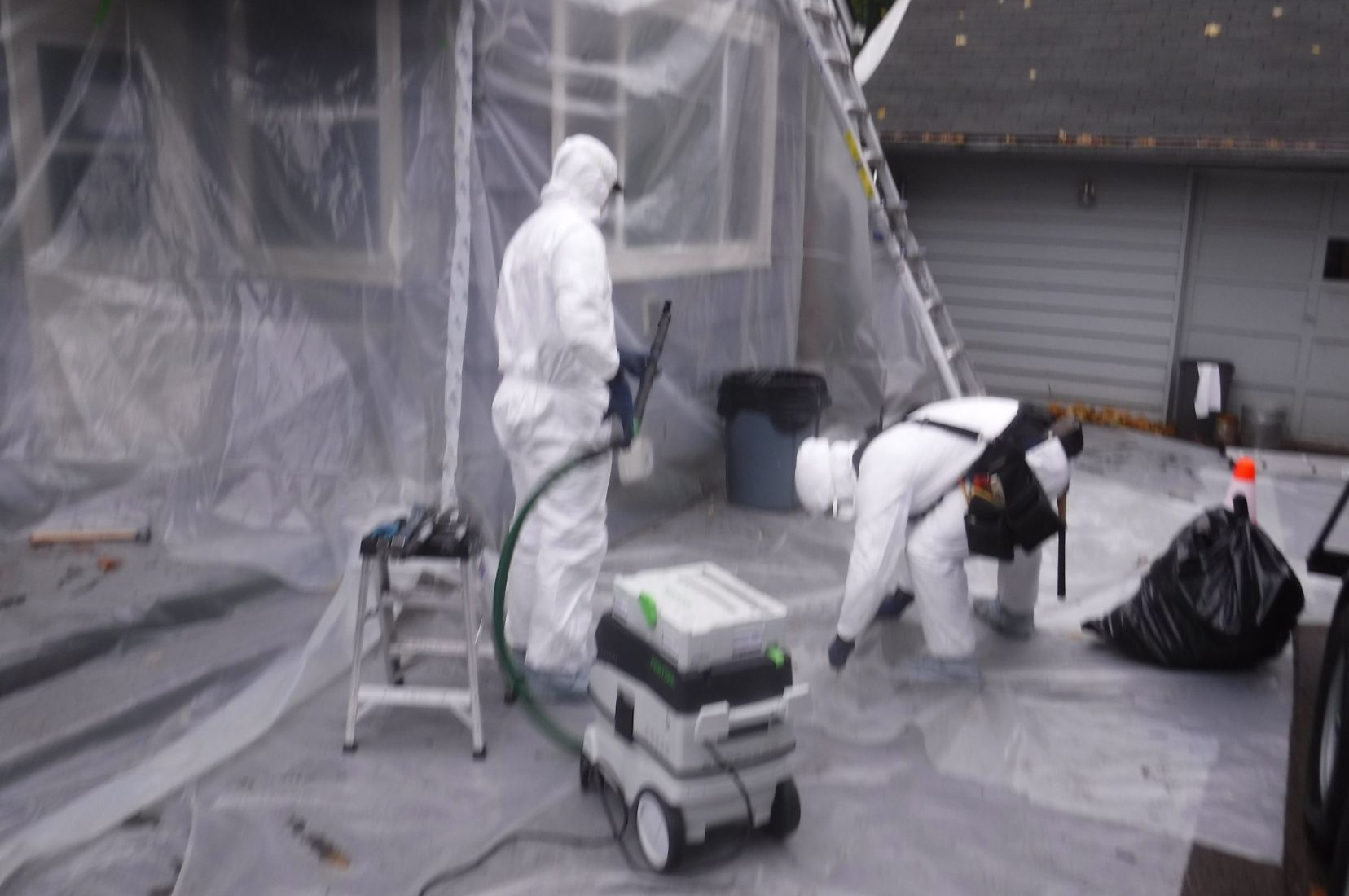 MESS Clean Up lead abatement client worksite. Serving California's Central Coast with Asbestos, Mold, Lead, and Selective Demolition