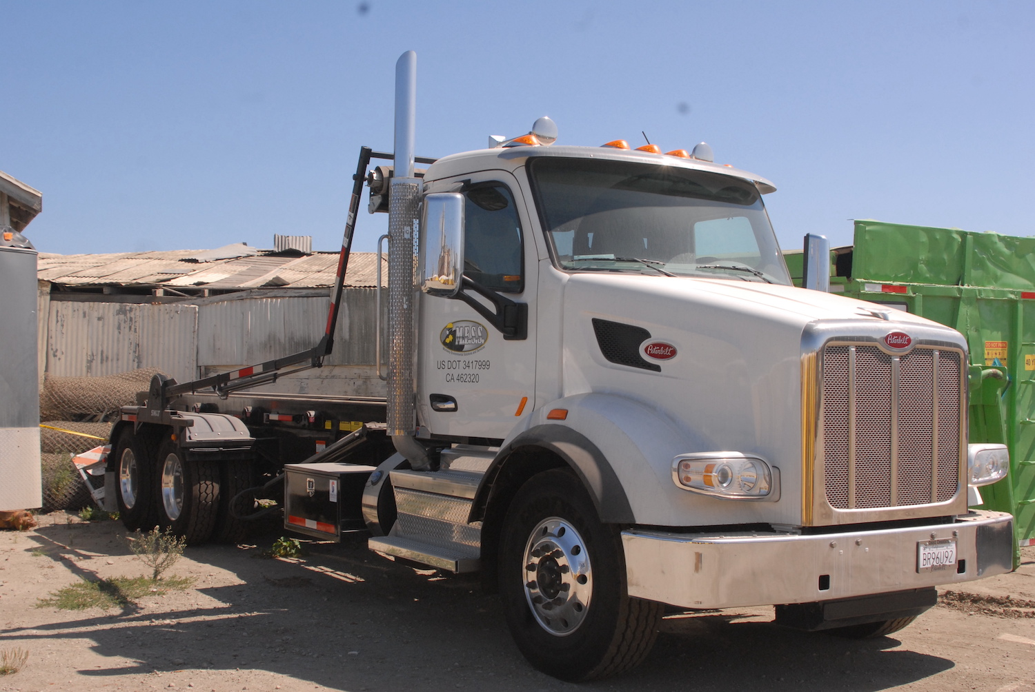 MESS Clean Up Peterbilt truck. Serving California's Central Coast with Asbestos, Mold, Lead, and Selective Demolition. Property Managers example