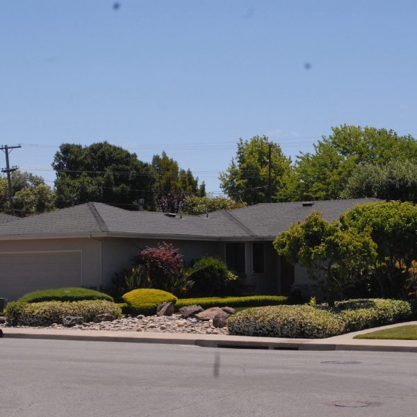 MESS Clean Up worksite of external residential property with nice landscaping and clean. Serving California's Central Coast with Asbestos, Mold, Lead, and Selective Demolition
